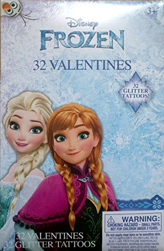 ines with Glitter Tattoos ~ 32 Count ~ 1 Box by Disney ()