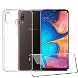 LJSM pour Samsung Galaxy A20E Coque + Verre trempé écran Film Protecteur -...