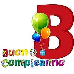 Idea Regalo - Givi Italia- Striscione di Buon Compleanno Ballon, Multi-Color, 3 Metri, 54476