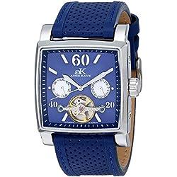 Adee Kaye Unisex ak9043-M/BU Wall Street Analog Display Automatic Self Wind Blue Watch