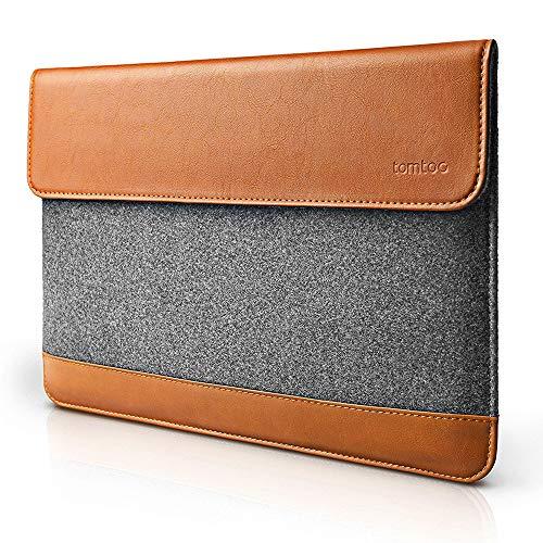 Leder Tasche Tragetasche (tomtoc Slim Laptop Sleeve Case kompatibel mit Alt MacBook Pro Retina 15