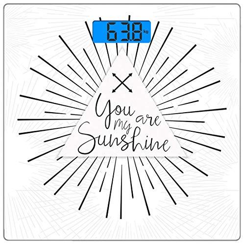 Precision Digital Body Weight Scale Quote Ultradünne Personenwaage aus gehärtetem Glas Genaue Gewichtsmessungen, minimalistische monochromatische Linien im Boho-Stil und Interlace-Pfeile, Scarlet Umbe