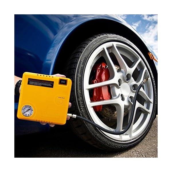 BAKTH Auto EPS Mini Multifuncional Portable 16800mAh Car Jump Starter con 400A pico de emergencia actual Banco de energía de arranque Cargador de batería externa con linterna LED Para coche de inicio de teléfono Tablet iPad Cámaras digitales Videocámara y más