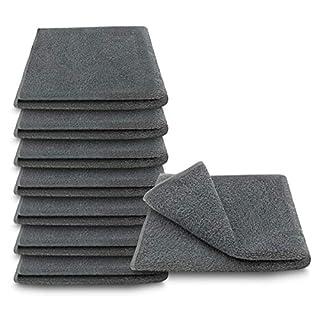 ARLI Handtuch 100% Baumwolle anthrazit 8X Handtücher Set Serie aus hochwertigem Rohstoff Frottier klassischer Design elegant schlicht modern praktisch mit Handtuchaufhänger grau 8 Stück