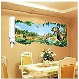 ZBYLL Wall Sticker Zimmer Schlafzimmer Jurassic der era Dinosaurier Kinder Wohnzimmer Wand Aufkleber