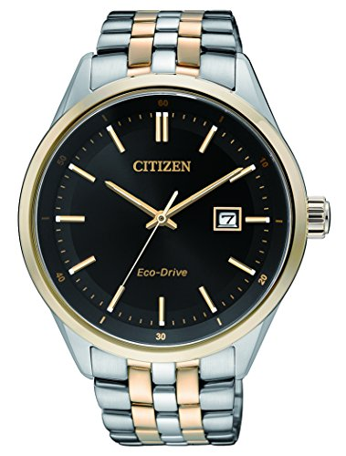 Citizen BM7256-50E Men's Quartz Watch with Black Dial Analogue Display Quartz Stainless Steel