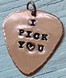 'I Pick You' Personalised Copper Hand Stamped Guitar Plectrum / Pick