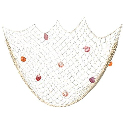 netz Maritime Dekoration Fotografie Prop mit Farbigen Muscheln Mediterranen Stil Fischerei Dekorative Netze (Weiss) (Dekorative Fischernetz)