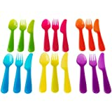 Ikea Kalas Series Dinnerware Set, Assorted Colors (Kalas Flatware - 18 Pieces)