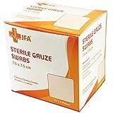 Premium Sterile Gauze Swabs 7.5cm x 7.5cm - Pack of 100