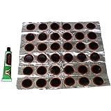 AERZETIX - Lot de 36 rustines pour pneus de vélo + colle - C1361