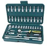 Mannesmann 2040-SL Jeu de clés à pipe 0,6 cm (0,25 pouces) Super Lock System 46 pièces (Import Allemagne)
