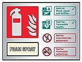 Caledonia Schilder 59489Schaumstoff Spray Feuerlöscher ID, Aluminium, selbstklebende Rückseite