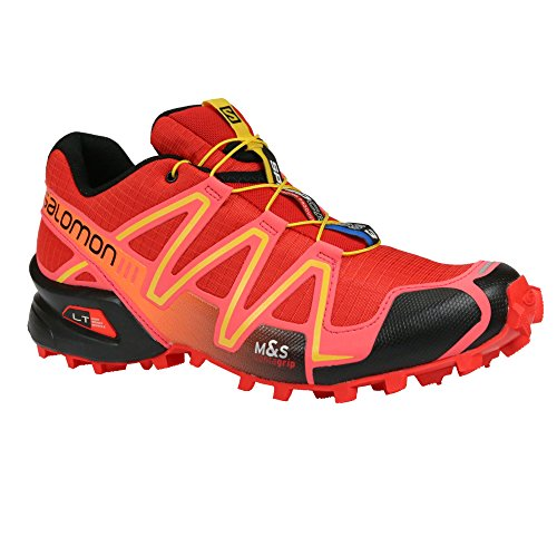 Salomon Speedcross 3 Women Trail Laufschuhe radiant red-madder pink-corona yellow - 38 2/3
