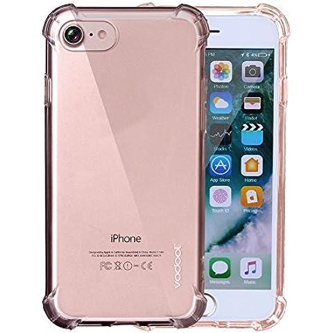 Vodool Caja de Teléfono Transparente para iPhone 7 TPU Prevenir la Caída Funda de Teléfono Cuatro Esquinas del Cojín del Airbag 4,7 Plugadas