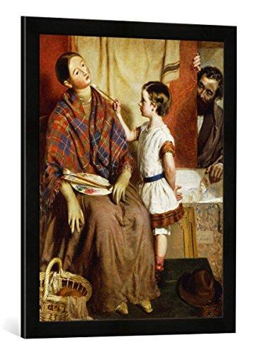 Gerahmtes Bild von Thomas John Hughes EIN erster Versuch, Kunstdruck im hochwertigen handgefertigten Bilder-Rahmen, 50x70 cm, Schwarz matt -