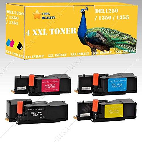 Preisvergleich Produktbild 4x XXL Toner kompatibel zu DELL C-1760 / C-1760 NW / C-1765 / C-1765 NF / C-1765 NFW