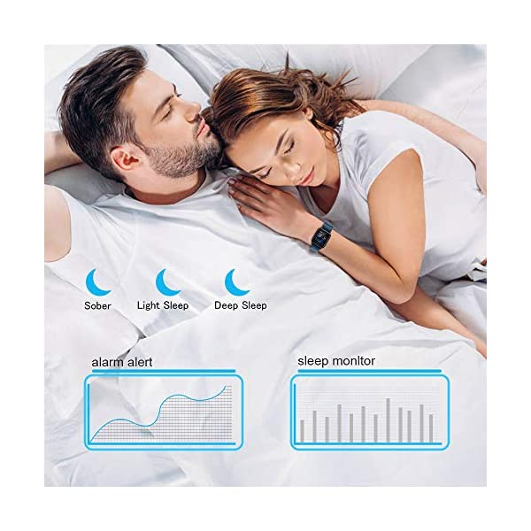 Ayete Smartwatch Fitness Tracker con frecuencia cardíaca Monitoreo de la presión Arterial Salud Deporte Reloj… 3