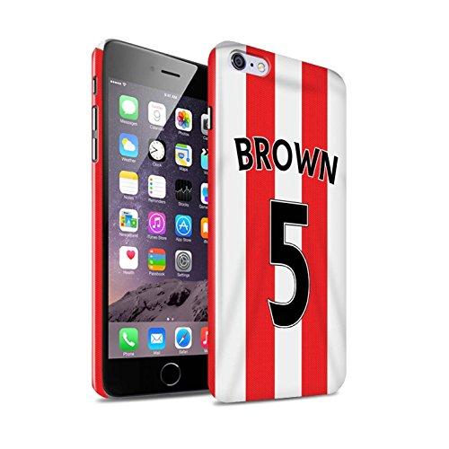 Offiziell Sunderland AFC Hülle / Glanz Snap-On Case für Apple iPhone 6+/Plus 5.5 / Pack 24pcs Muster / SAFC Trikot Home 15/16 Kollektion Brown