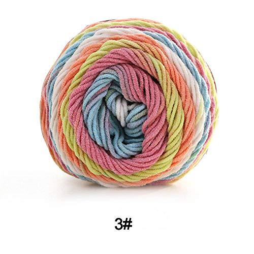 Kissen, Wollsocken (Strickwolle 100 g 5 Strängen Regenbogen-Baumwolle handgestrickt handgestrickt Wolle gefärbt für Milch Baumwolle Schal Kissen Decke)