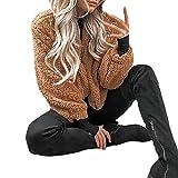 ABsoar Jacke Offene Cardigan Strickjacke Mantel Frauen Winter Warme Tasche Flauschigen Mantel Fleece Pelz Jacke Oberbekleidung Hoodies Wrap Outwear