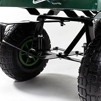 Izzy Bollerwagen Gartenwagen 300 kg belastbar, klappbare Seitenwände Luftreifen von Izzy - Du und dein Garten