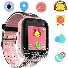 Smartwatch Impermeable para niños para niñas - IP67 Resistente al Agua para niños SmartWatch con GPS