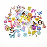 #2: iDream® Colourful Animal Style Wooden Button For Sewing Scrapbook DIY (Pack of 40)