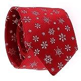 SHIPITNOW Cravatta Natalizia Jacquard - Cravatta Fiocco di Neve - Cravatte Natalizie - Cravatta Di Natale Capodanno