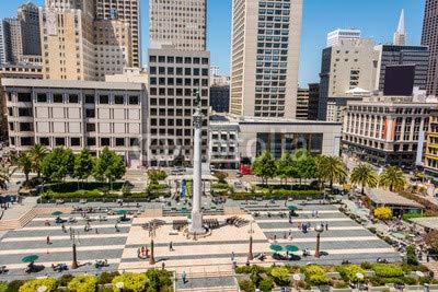 adrium Alu-Dibond-Bild 110 x 70 cm: The Union Square in San Francisco, Bild auf Alu-Dibond