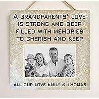 Grandparents Nanny Grandad Gift Plaque YOUR OWN PHOTO W280