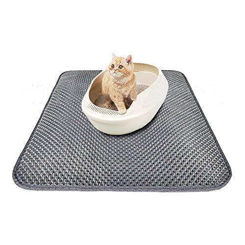 Roblue Katzematte Rutschfeste Katzenklo Vorleger Decke Zwei Schichte Wasserdicht EVA Katzenstreu Matte 40cmx50cm/46cmx60cm/55cmx70cm - Katzen Für Katzenklo Matte