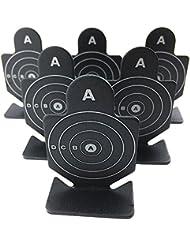 Airsoft Magic Full Metal un valiente guerrero objetivos de disparo 6pcs para AEG GBB airsoft–negro