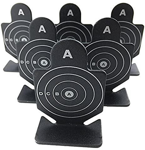 Airsoft magic Full Metal A Brave Warrior Shooting Targets 6 pcs for AEG GBB Airsoft – Black
