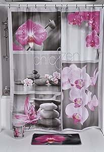 Evideco Street Art Polyester Tissu imprimé Rideau de douche, Polyester, Multicolore, 200 x 30 x 180 cm