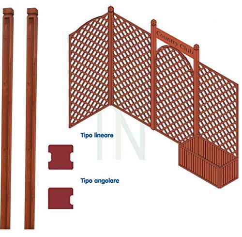 palo paletto angolare in legno per pannelli grigliati cm 180 giardino recinto