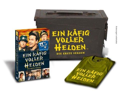 Ein Käfig voller Helden - Die erste Season in Munitionskiste mit T-Shirt - exklusiv bei Amazon.de (limitiert auf 2500 Stück) (Schwarzen Exklusiven T-shirt)
