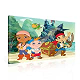 Jake Nimmerland Piraten Leinwand Bilder (PPD355O1FW) - Wallsticker Warehouse - Size O1 - 100cm x 75cm - 230g/m2 Canvas - 1 Piece