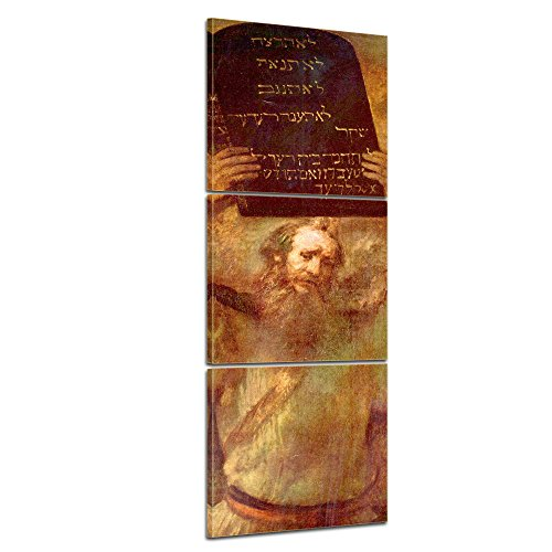 bilderdepot24-picture-tela-panorama-rembrandt-antichi-maestri-mose-con-le-tavole-della-legge-40x120c