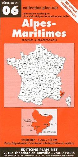 Carte routière : Alpes Maritimes par Cartes Ponchet