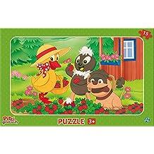 Malset Pittiplatsch mit Farbpalette 1 Malbuch mit Wasserfarben und Pinseln Stück Malbücher für Kinder