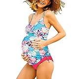 Summer Mae Costumi da Bagno Premaman maternità Tankini Imbottite da Donna Stampa-2 XXL (EU 42-44)