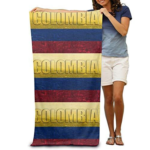 KIMIOE Badetücher Duschtücher Strandtücher Colombian Flag City Beach Towels Luxurious Soft Eco-Friendly Printing Design Outdoors,Non-Toxic décor 31