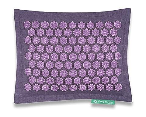 Coussin Champ de Fleurs Mauve-Violet