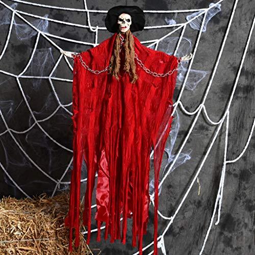 JIBO Der Horror Big Ghost Ghost Halloween Spuk Haus Requisiten Wird Leuchten Und Wird Die Geisterbar Genannt Werden.