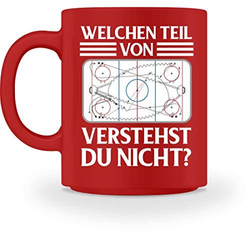 Geschenk T-Shirt Fan Spieler Coach Eishockey Bekleidung Weihnachten Hockeyspieler - Tasse -M-Rot (Oster-bekleidung Für Jungen)