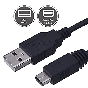 Mudder 10 Feet Gamepad USB Charge Cable Power Charging Cable for Nintendo and Wii U, Black