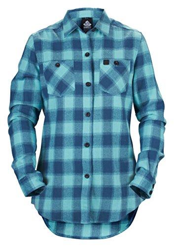 Sweet Protection Damen Shirt Flannel Wmns Gunmental Blue/Mint Green, XS Wmns Sweet