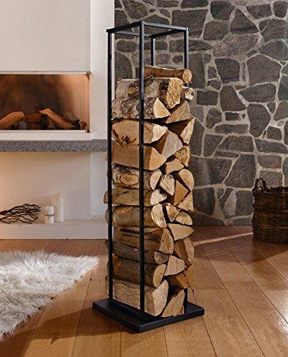 Étagère en métal pour bois de cheminée