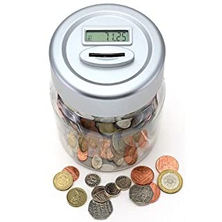 Digital Coin Counter Jar - Money Saving/Storage Box Counts Coins LCD Display by AAJ